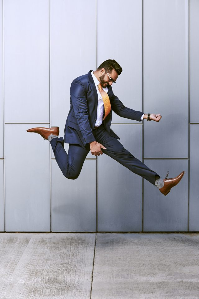 Portrait, Jumping, Advertising, Air Guitar, Businessman, Suite, Fun, Photographer, Photography - By Canberra Photographer