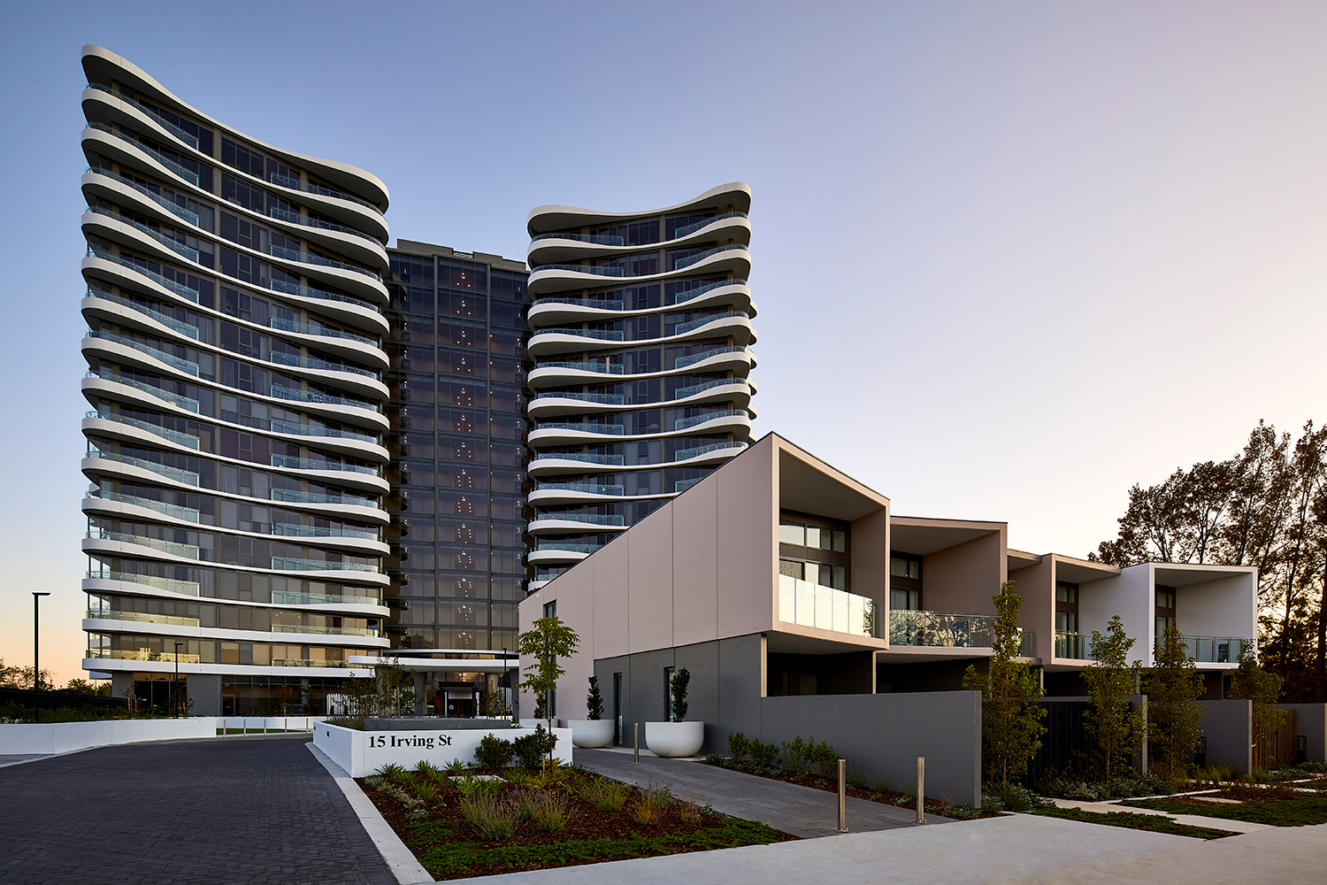 The Ivy Woden - exterior architectural photography of new development in canberra by Canberra photographer