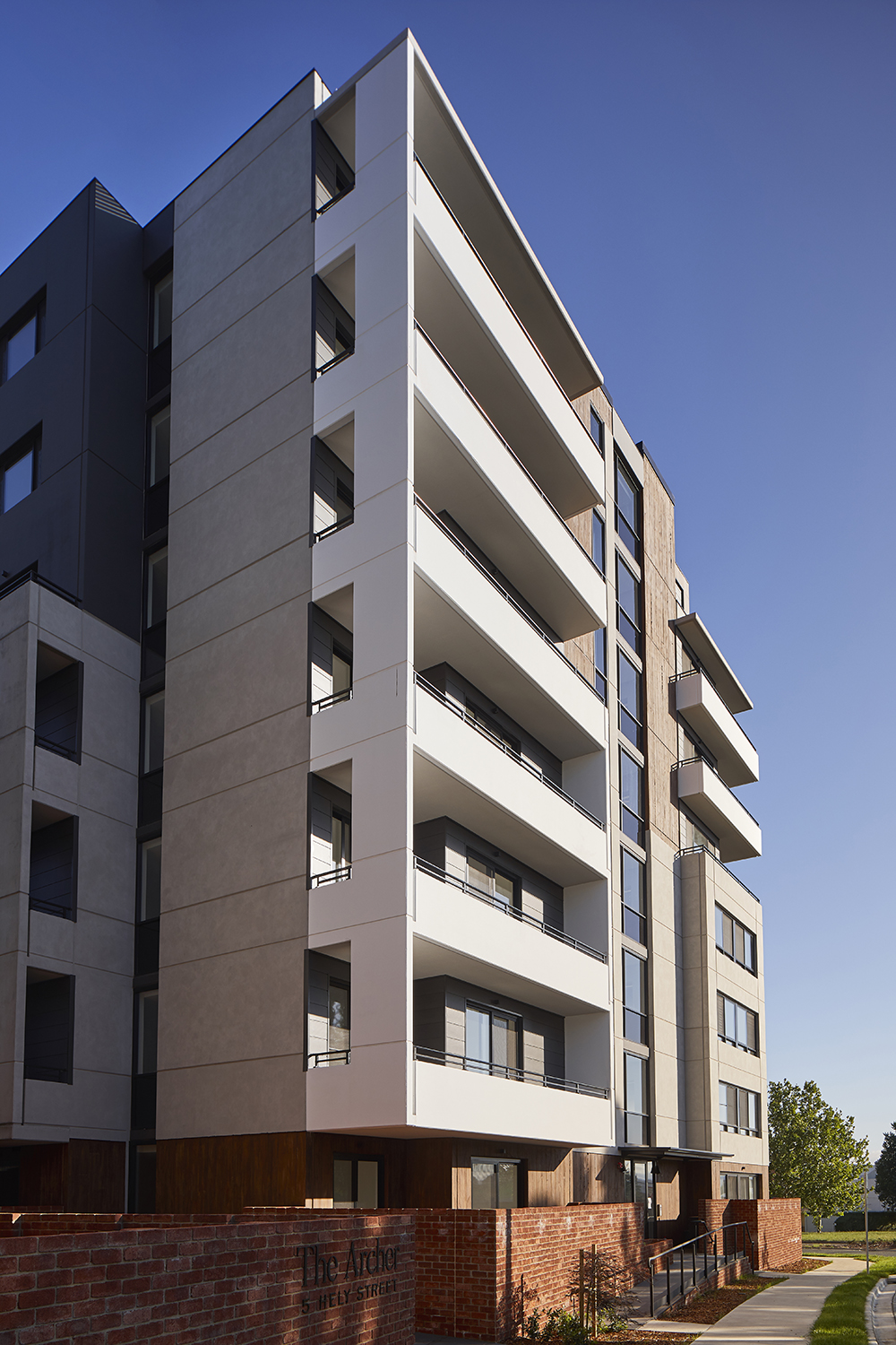 exterior architectural photography of new development in canberra by Canberra photographer